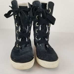 Convese All Star Black Suede Hi-Tops